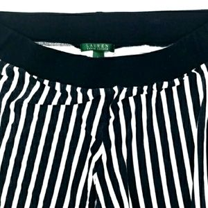 RALPH LAUREN Black and white striped pants